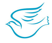Flying dove or bird of peace — Stockvector