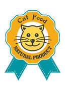 Cat Food emblem or badge — Stock Vector