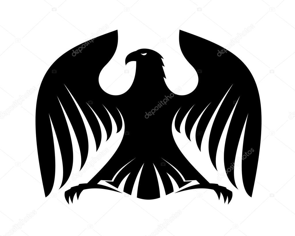 black eagle silhouette  Eagle Head Silhouette