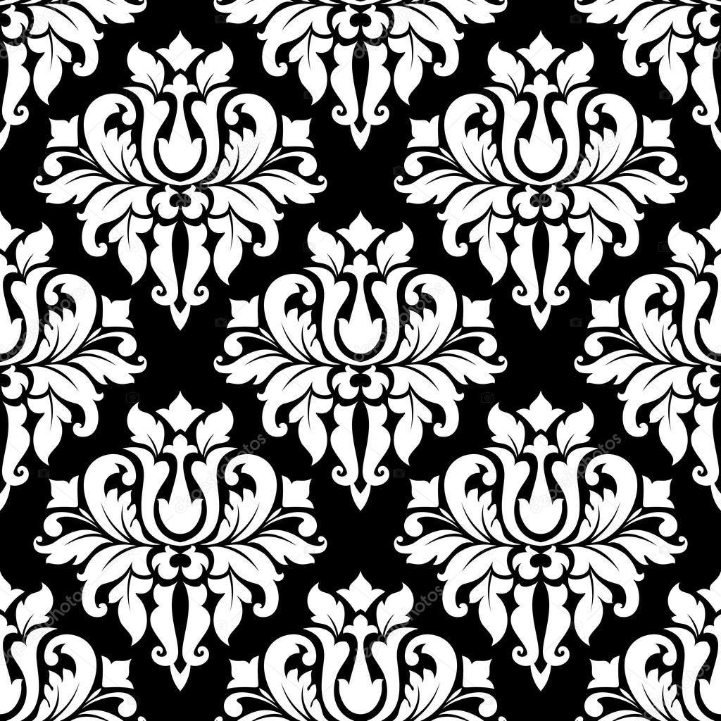 vintage arabesque pattern with floral motifs stock. Black Bedroom Furniture Sets. Home Design Ideas