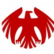 Fierce red eagle heraldic silhouette — Stock Vector #41460935