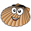 Cartoon seashell with happy smile — Stock Vector #41461053