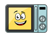 Cute cartoon microwave oven — Stock Vector
