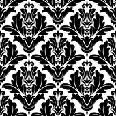 Fet svart och vit arabesque mönster design — Stockvektor