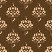 Floral motif repeat seamless pattern — Stock Vector