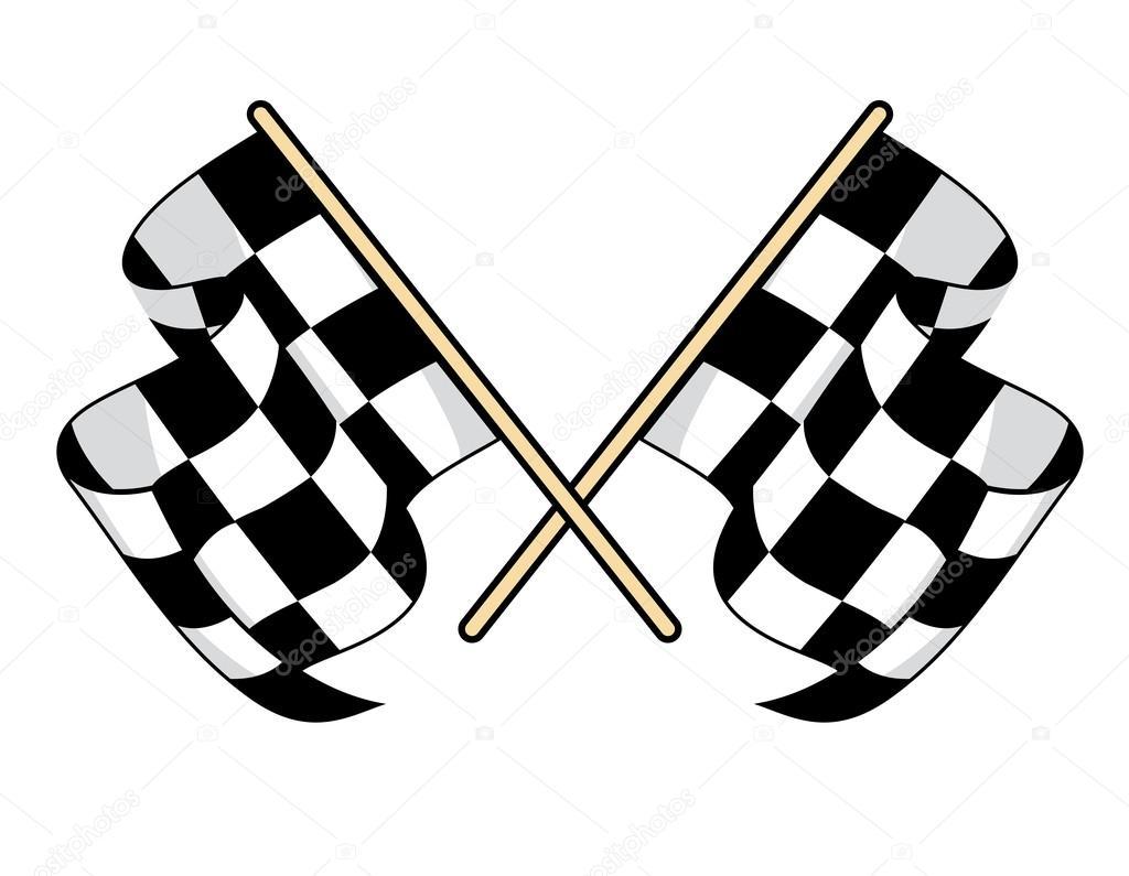 ic ne de drapeaux damier pour la conception du sport automobile image vectorielle seamartini. Black Bedroom Furniture Sets. Home Design Ideas