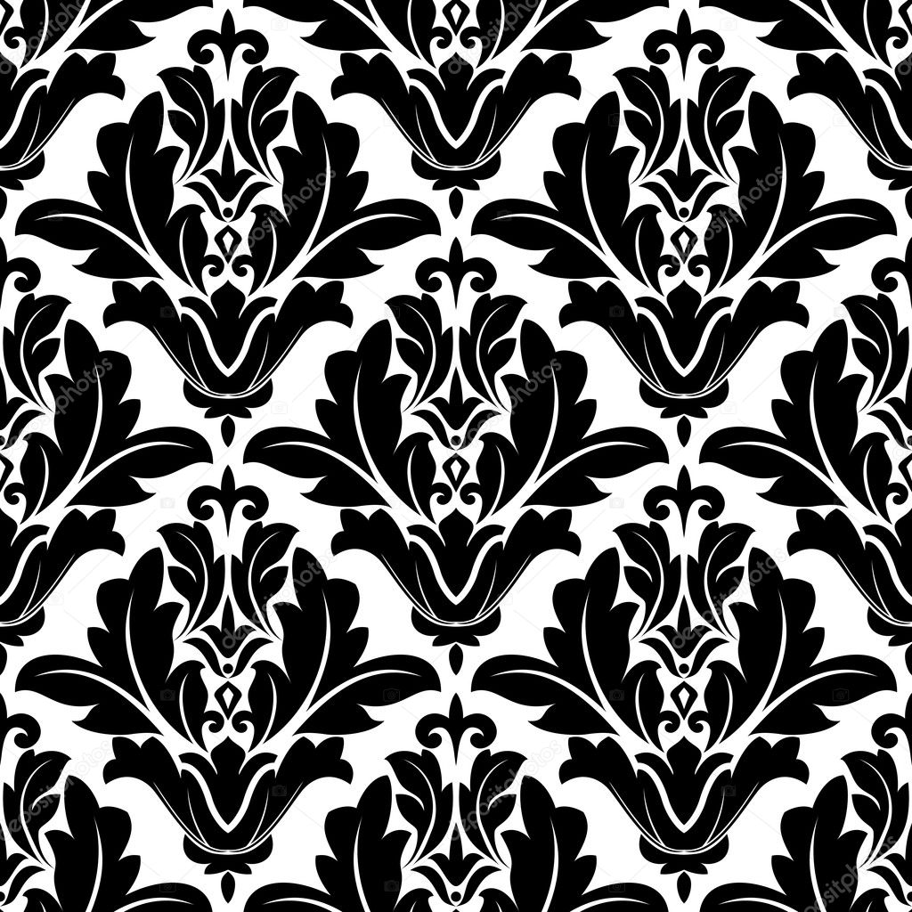 Arabesque noir et blanc bold mod lisme image vectorielle seamartini 41461293 - Any design using black and white ...