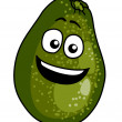 Happy ripe green cartoon avocado pear — Stock Vector #41887403