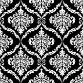 Süslü damask Dikişsiz desen tasarım — Stok Vektör