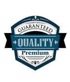 Premium Guaranteed Quality label design — Stock Vector