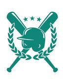 Emblema do campeonato de beisebol — Vetor de Stock