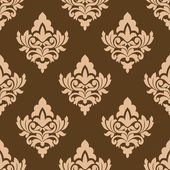 Seamless pattern with floral arabesques — Stock vektor