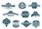 Labels set denoting Premium Quality — Stockvector