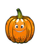 Smiling cartoon fall pumpkin — Stock Vector