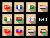 Set of flat flag icons of Eastern countries — Stock Vector