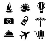 Set of travel and tourism icons — Vecteur