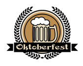 Oktoberfest beer icon or label — Stock Vector