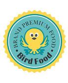 Premium bird food icon — Stock Vector