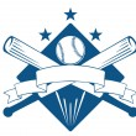 Championship or league baseball emblem — Stock Vector