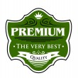 Premium The Very Best label — Stock Vector