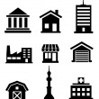 Buildings and architectural icons — Stock Vector #42299357