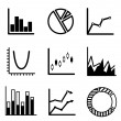 Stock Vector: Business statistical charts and graphs