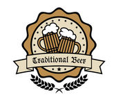 Emblema tradicional de la cegodło dla tradycyjnego piwa — Vettoriale Stock