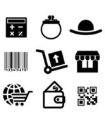 Shiopping icons set — Stock Vector