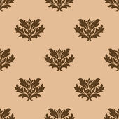 Beige floral seamless pattern — Stock vektor