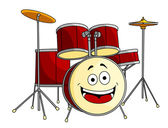 Drum set in cartoon style — Stock Vector