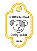 Healthy Pet Food label — Stock Vector