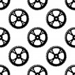 Pinions and gears seamless pattern — Stok Vektör