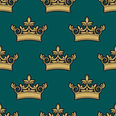 Seamless pattern of a golden crowns — Stock Vector