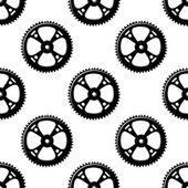 Pinions and gears seamless pattern — Stock Vector