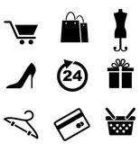 Retail and shopping icons — Stock Vector