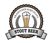 Retro beer label — Stock Vector