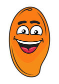 Joyful exotic orange mango fruit — Stock Vector