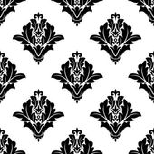 Black and white damask seamless pattern — Stock Vector