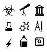 Science icons and symbols — Vector de stock
