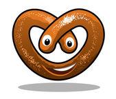 Fun happy curly pretzel — Stock Vector