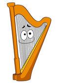 Klasik ahşap harp — Stok Vektör
