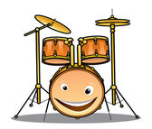 Set of drums and cymbals for a band — Stock Vector