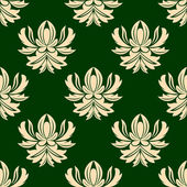 Green and beige seamless arabesque pattern — Stock Vector