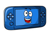 Blue game console — Stock Vector
