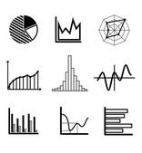Set of graphs and charts — Stock Vector