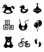 Set of baby icons — Stockvector
