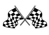 Crossed motor sport flags — Stock Vector