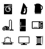 Set of home appliances icons — Stockvector