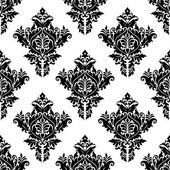 Monochrome seamless floral pattern — Stock Vector