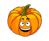 Cheeky happy cartoon pumpkin — Stok Vektör